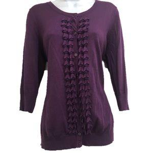 Merona women's purple cardigan size large